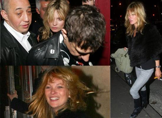 Kate Moss In Paris With Jamie Hince And The Kills