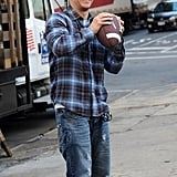 Mark Wahlberg on the set of Broken City.