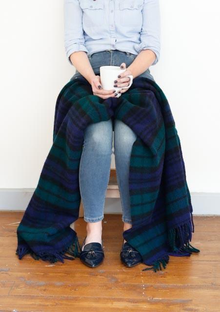The Tartan Blanket Co. New Wool Knee Blanket in Black Watch Tartan