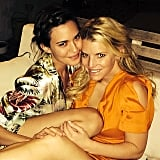 Odette Annable and Jessica Simpson cuddled up on Sunday. Source: Instagram user jessicasimpson