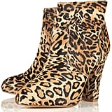 This pair has a great heel, perfect for running errands around town.  Topshop Anika Leopard Print Boots ($130)