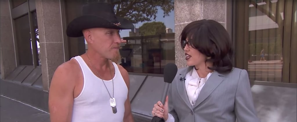 Miley Cyrus Undercover as Australian Reporter Jimmy Kimmel