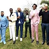 DJ Khaled, Diddy, Juan Perez, Kevin Hart, JAY-Z, and Kareem Burke at the 2020 Roc Nation Brunch