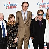 Pictures of Emily Blunt, Matt Lucas, Sir Elton John, Stephen Merchant, Elizabeth Hurley from the UK Gnomeo and Juliet Premiere