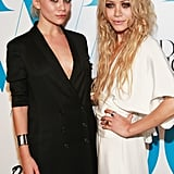 At the 2007 CFDA Awards, both girls went with a smoky eye. But Ashley opted for a more sleek look with pulled-back hair, while Mary-Kate went with long, textured waves.