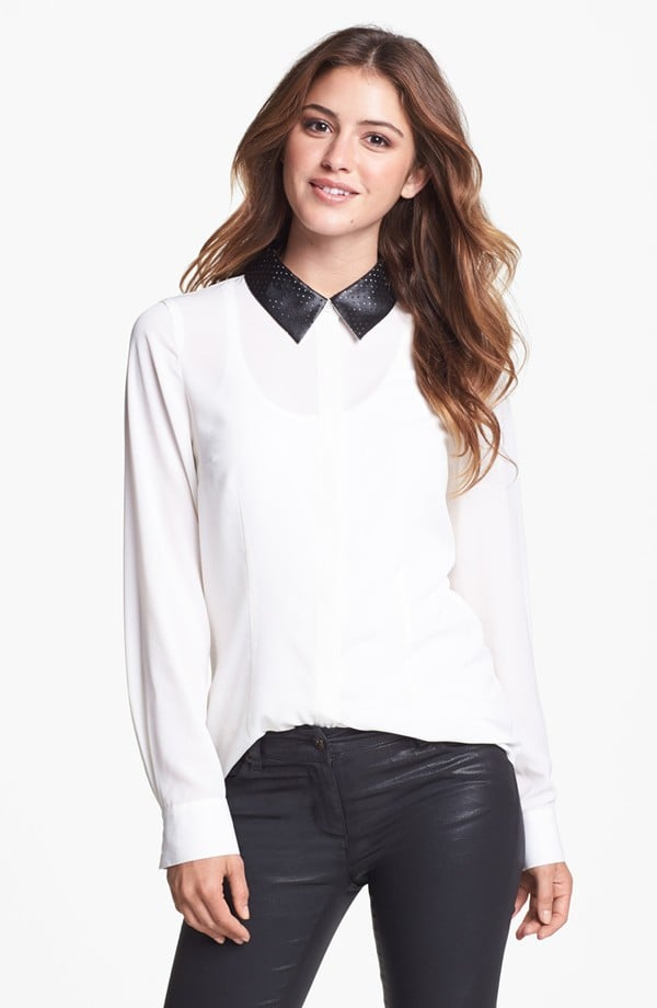 This Kensie faux leather collar blouse ($47, originally $79) is polished enough for the office, cool enough to style after hours.