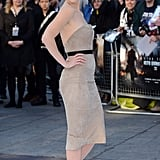 Alice Eve had a bombshell moment on the red carpet at the UK premiere of Star Trek Into Darkness.