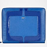 This vibrant, cobalt-blue leather case will make you the talk of the office boardroom.  Diane von Furstenberg Chainlink iPad Case ($275)