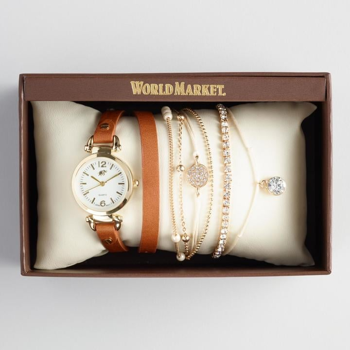 Wrap Watch and Bracelet Boxed Set