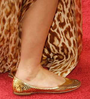 Guess Who Wore Fancy Gold Flats to the Oscars?