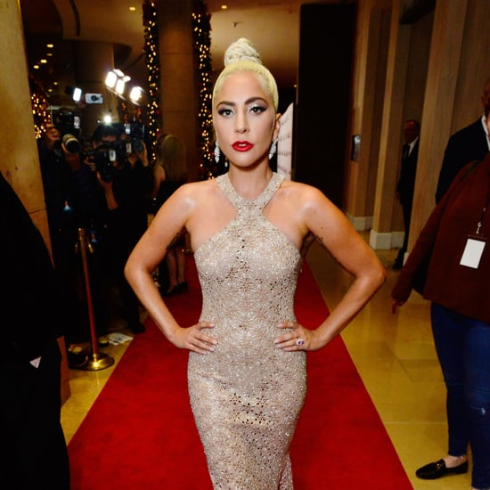 Lady Gaga Halter Neck Gown 2018