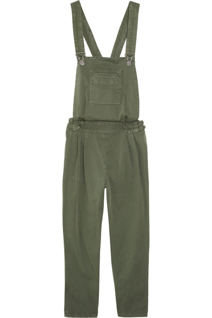 Layer a white tank under this version to contrast the military hue — then add a great pair of wedged espadrilles to lend some femininity.  Boy by Band of Outsiders Cotton Overalls ($495)