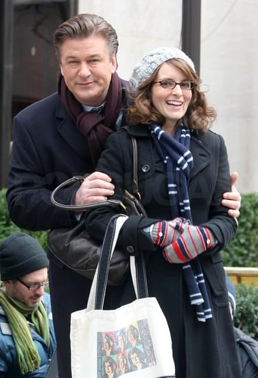Pictures of Alec Baldwin and Tina Fey Filming 30 Rock