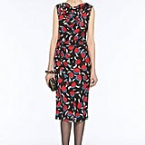 A conservative silhouette — below the knee and slim fit — get a feminine jolt from the print and pretty draped neck. Diane von Furstenberg Gabbie Dress ($345)