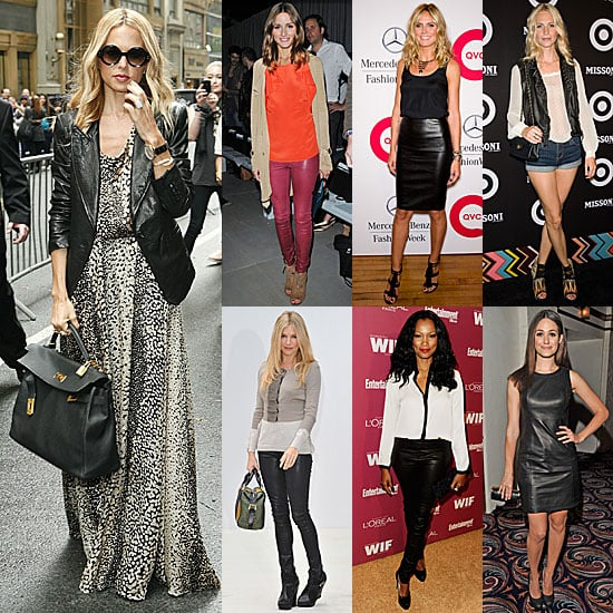 Pictures of Celebrities Wearing Leather: Seven Ways to Wear Leather by Olivia Palermo, Rachel Zoe, Sienna Miller and more!