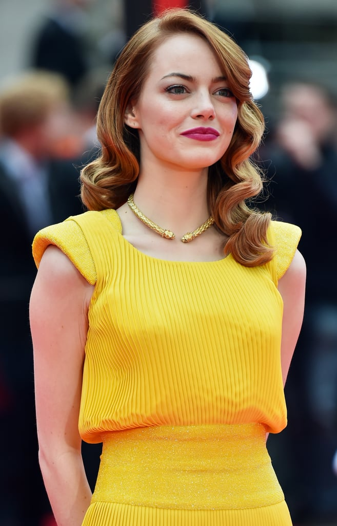 emma stone 39 s yellow dress in la la land popsugar fashion australia. Black Bedroom Furniture Sets. Home Design Ideas