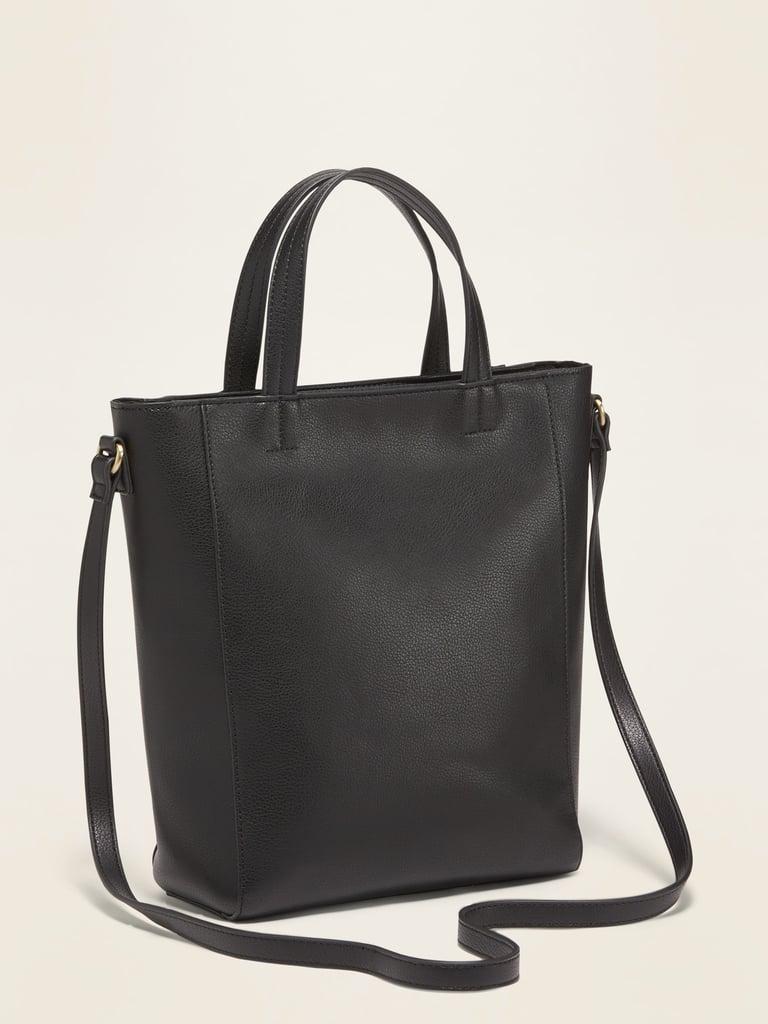 Faux-Leather Mini Tote