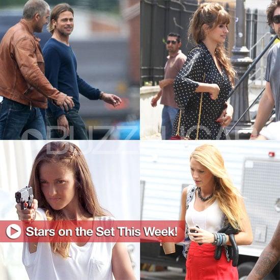 Brad Pitt, Penelope Cruz, Blake Lively, and More Stars on Set This Week!