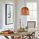Stone and Beam Modern Woven Bamboo Basket Ceiling Pendant Chandelier