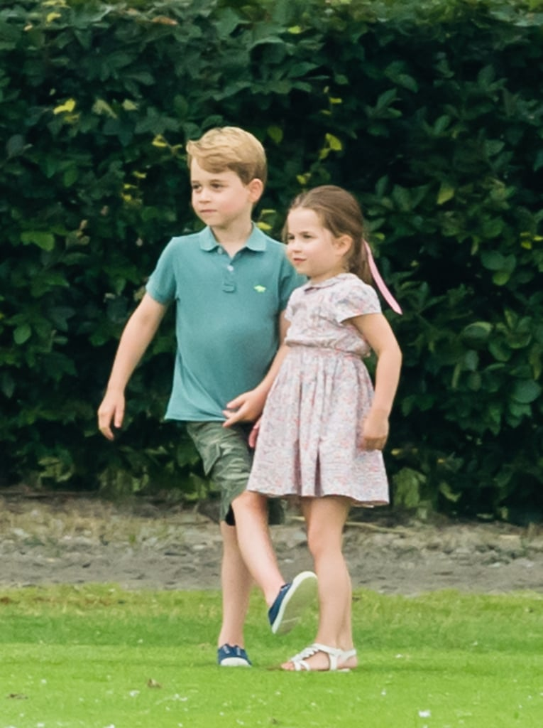 When He and Princess Charlotte Cheered On Their Dad at a Polo Match