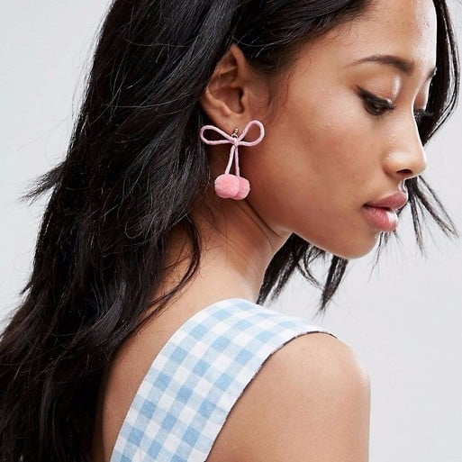 Millennial Pink Pom-Pom Earrings