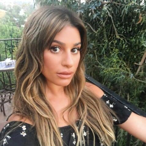Lea Michele Blonde Highlights 2017