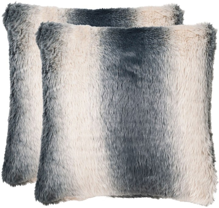 The Well Appointed House Faded Grey Ombre Accent Pillow