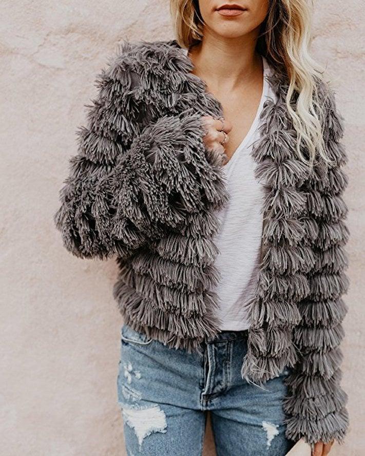 An On-Trend Shaggy Jacket