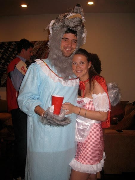 Wolf And Little Red Riding Hood  Homemade Halloween Couples Costumes  Popsugar Love -6720