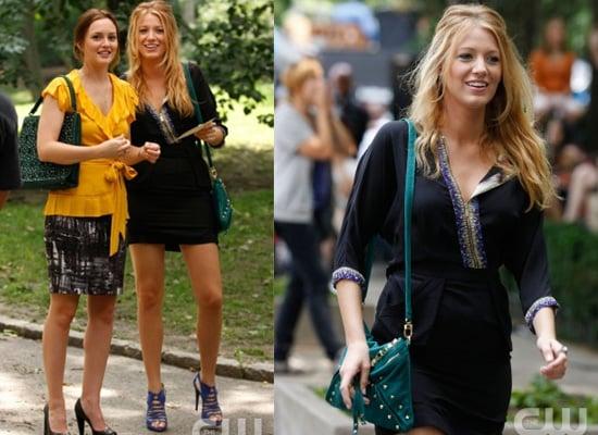 Serena van der Woodsen's Blue Zip Front Beaded Dress in Season Three Gossip Girl