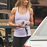 Pictures of Cameron Diaz and Alex Rodriguez Working Out