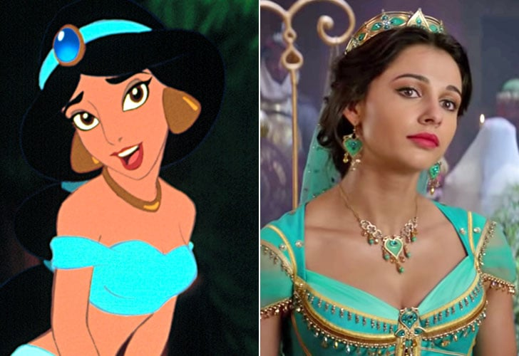 Naomi Scott As Princess Jasmine Aladdin Cartoon And Live