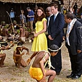 Kate Middleton and Prince William were side by side for a wreath laying ceremony in the Solomon Islands.