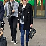 Kirsten Dunst headed out of London for the Cannes Film Festival on Monday.