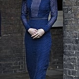 Kate wore Indian designer Saloni for a reception at Kensington Palace ahead of her tour of India and Bhutan.