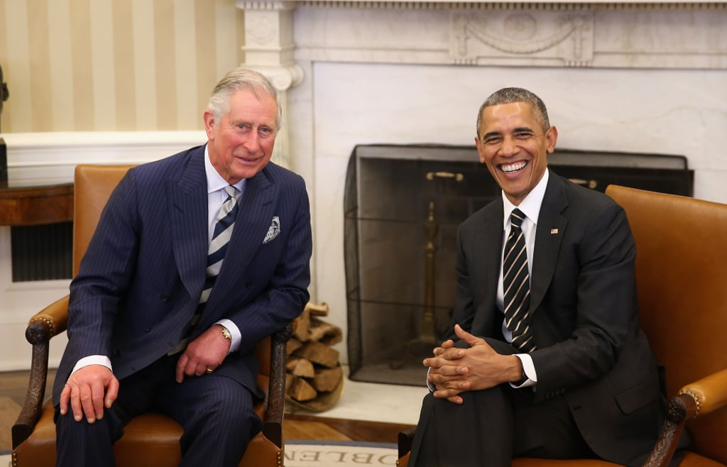 When Prince Charles made a visit to the US in March 2015, he and Barack Obama were all smiles while hanging out in the Oval Office.
