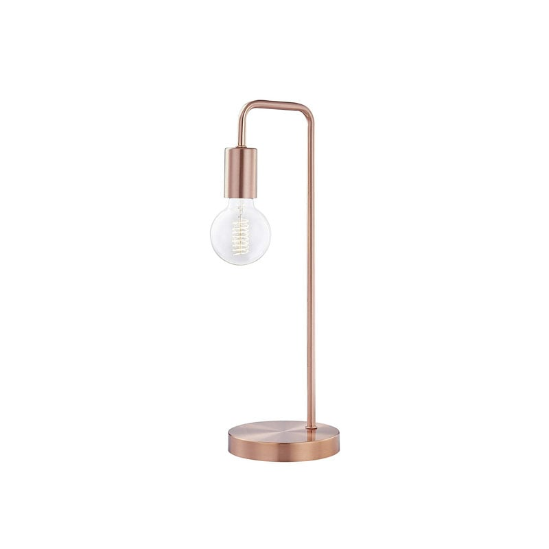 Light Society Fulton Brushed Copper Table Lamp