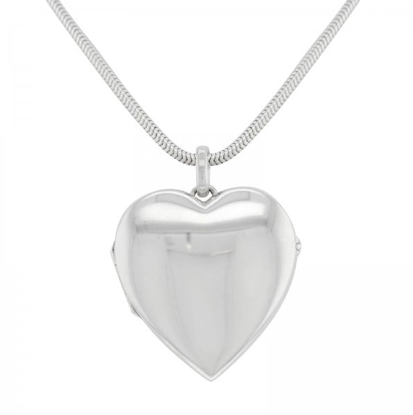 Tiffany co 925 sterling silver heart locket pendant necklace audiocablefo
