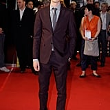 Andrew Garfield posed for a solo shot on the red carpet.