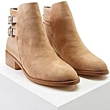 Forever 21 Faux Suede Buckle Ankle Boots