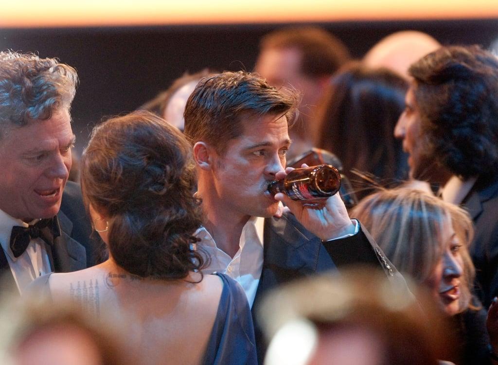 Damiani Brad Pitt Wedding Band 78 Simple He Was a Frat