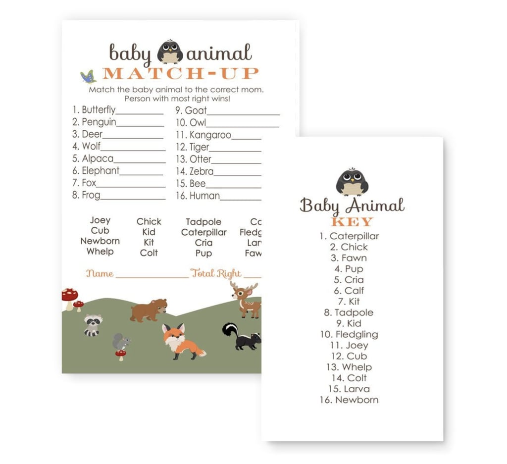 Baby Animal Match-Up | Baby Shower Games | POPSUGAR Family Photo 17
