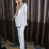 Zendaya played up her pointed-toe metallic heels with dainty diamond jewels.
