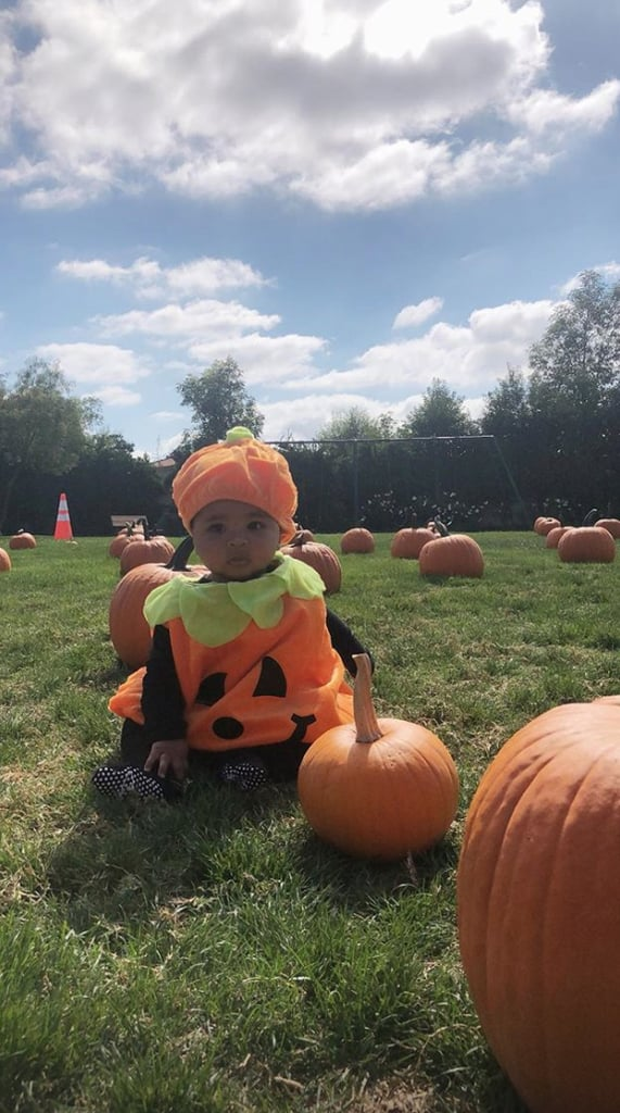 "Baby True is getting a head start on celebrating her first Halloween! On Sunday, proud mom Khloé Kardashian shared Instagram photos from their family trip to the pumpkin patch, and we're totally melting over how cute True is. Not only did Khloé dress up her daughter as a pint-size pumpkin, but she also let us know that it was just ""one of many costumes to come."" In the shots, True is shown adorably posing on the grass surrounded by pumpkins, and her 6-year-old cousin Penelope Disick even makes an appearance. Between this and the family's recent cupcake party, prepare yourselves for cuteness overload!       Related:                                                                                                           It's True! Khloé Kardashian's Baby Girl Is So Precious, Our Hearts Can't Handle It"