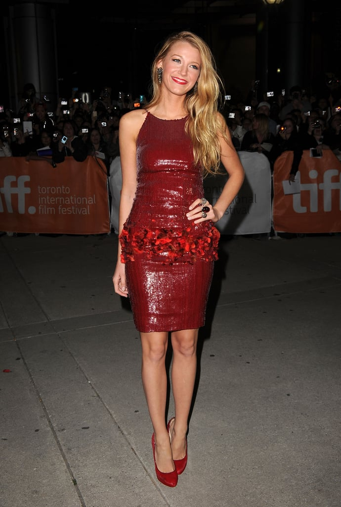 Wearing a Chanel sequined dress to the 2010 premiere of The Town at the Toronto International Film Festival.