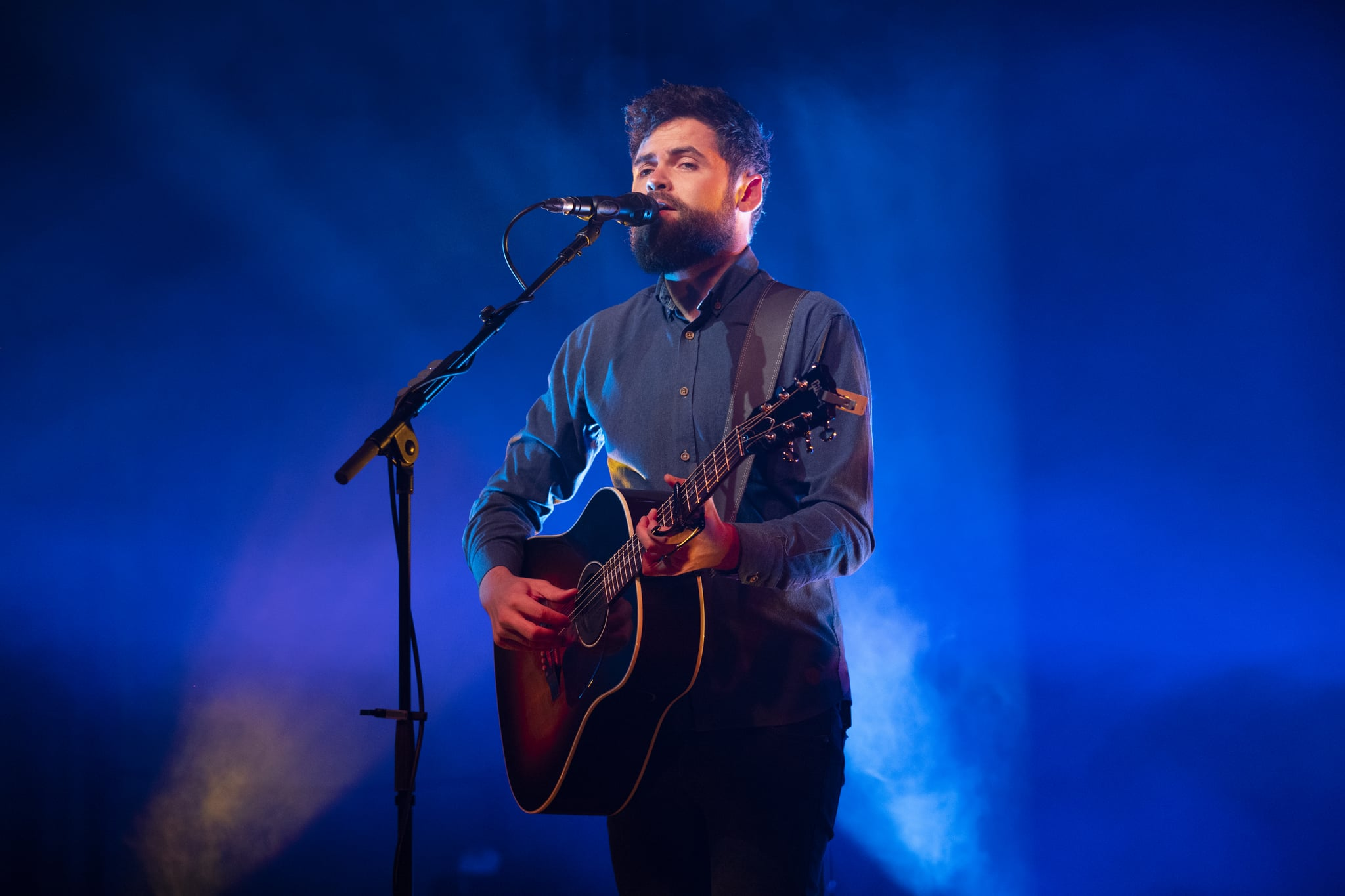 BOLOGNA, ITALY - APRIL 07: Passenger performs onstage at Estragon April 07, 2019 in Bologna, Italy. (Photo by Mathias Marchioni - Iguana Press/Getty Images)