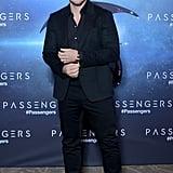 Jennifer Lawrence and Chris Pratt at Paris Passengers Event