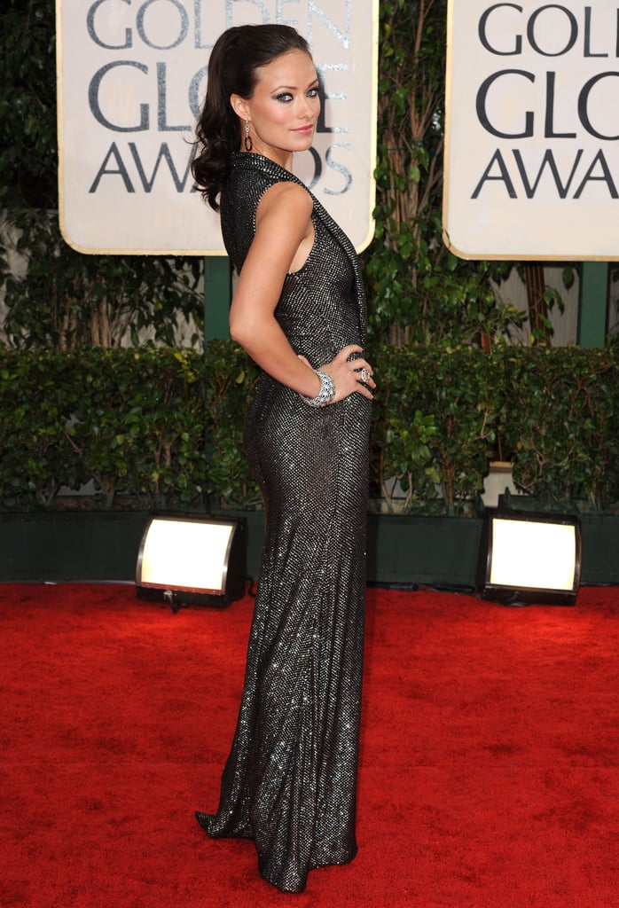Photos of Olivia Wilde on the Red Carpet at the 2010 Golden Globe Awards