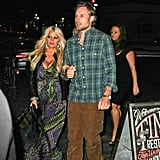 Jessica Simpson and Eric Johnson held hands.
