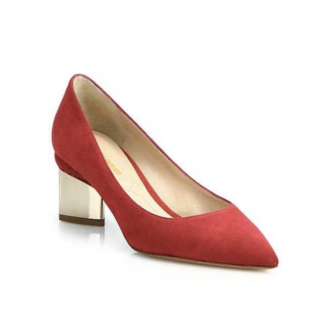 Nicholas Kirkwood Suede Block Heel Pumps ($595)